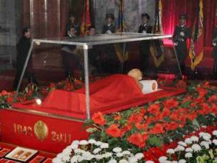 The body of North Korean leader Kim Jong Il lies in a memorial palace in Pyongyang